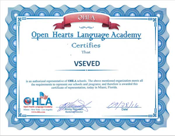 Certificate of OHLA